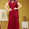 The cocktail collection in Red saree