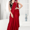 Ready To Wear Stitched Red Saree