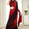 The Ombre Shaded Red Saree
