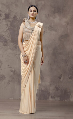 Draped Embellished Saree Gown